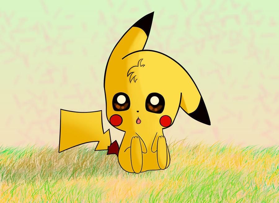 Chibi pikachu by Kiarapoke