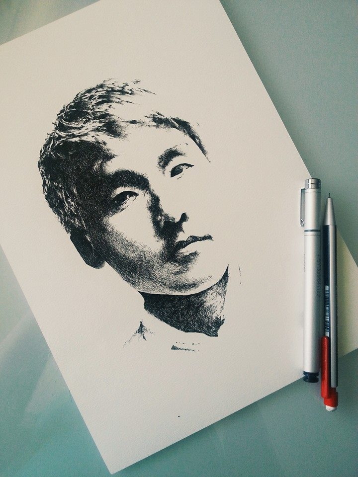Portraits in Ink #1 by jannettella