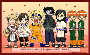 Ouran Chibis Go Naruto by jannettella