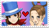 Trucy X Pearl Stamp by xConnieBearx