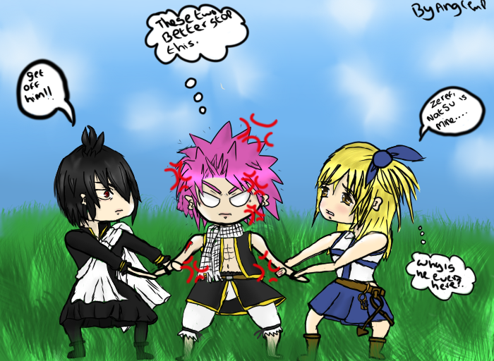Fight over Natsu. by AngieMP on DeviantArt