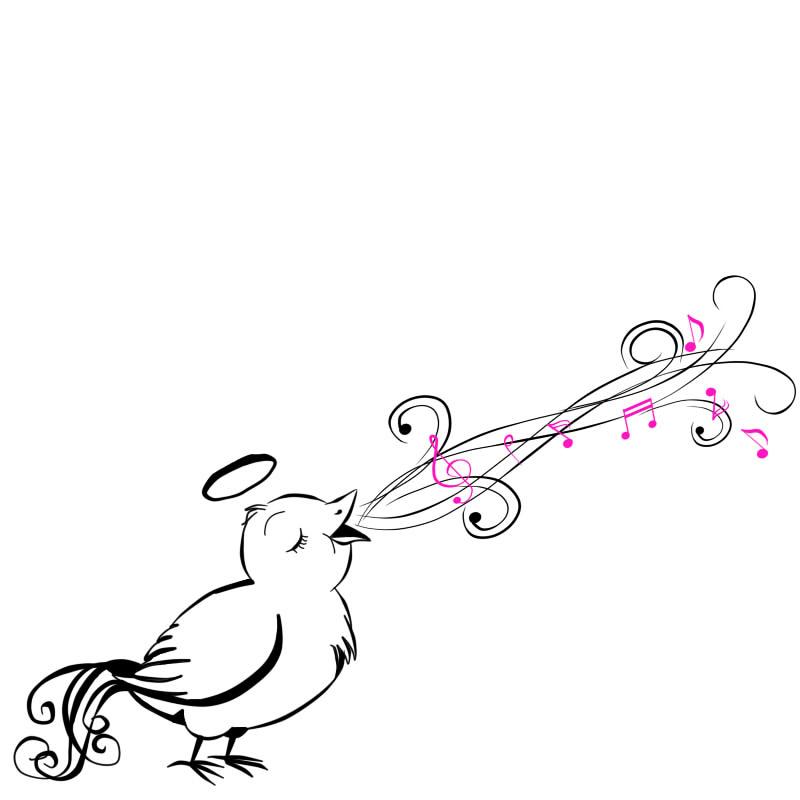 Singing Bird Tattoo Design By Angiemp On Deviantart