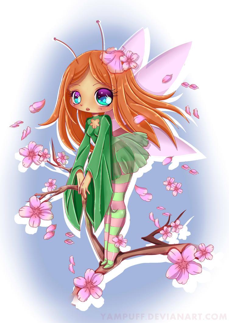 Cherry Blossom Fairy by AngieMP