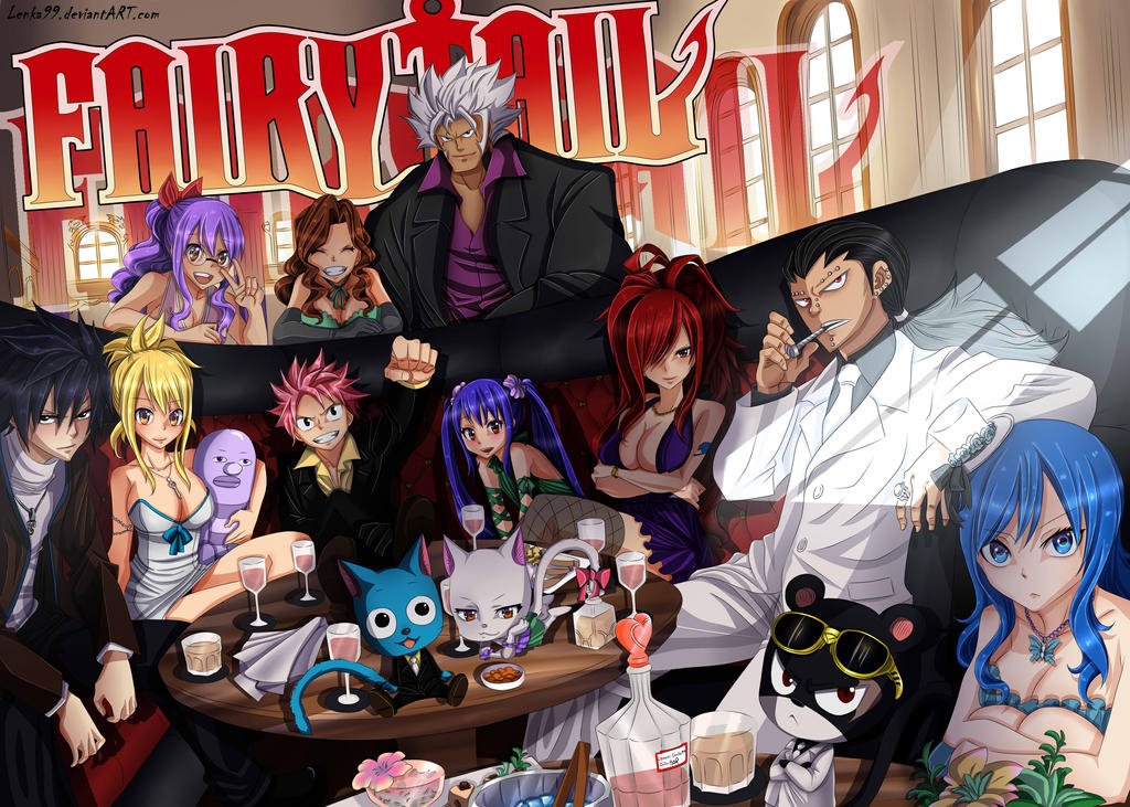 Fairy Tail Banquet by AngieMP