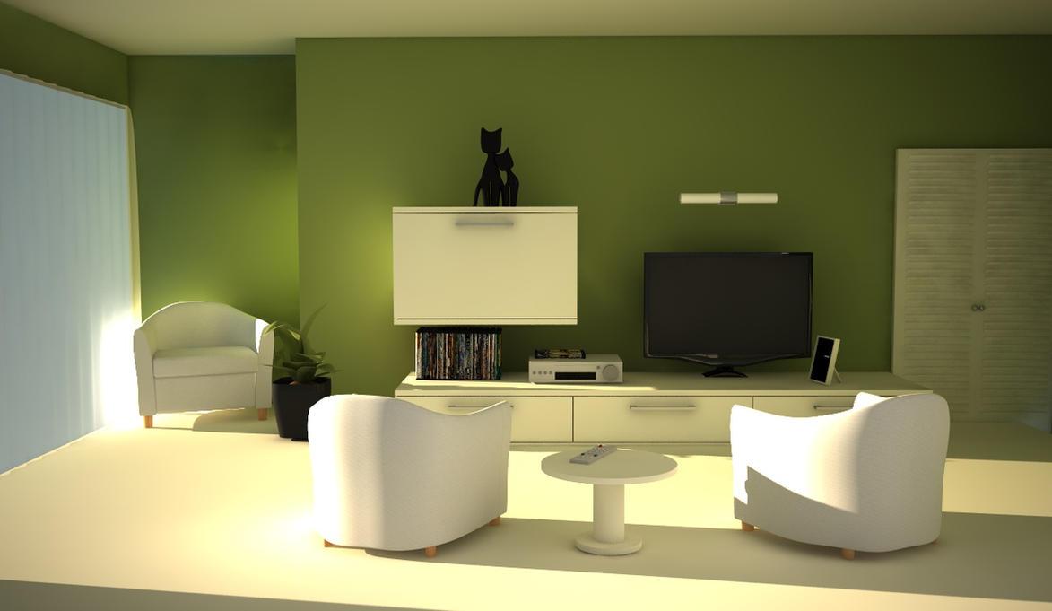 green living room by NGO-design on DeviantArt