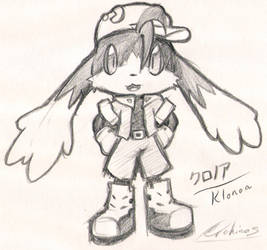 Chibi Klonoa Scribble by Archinos