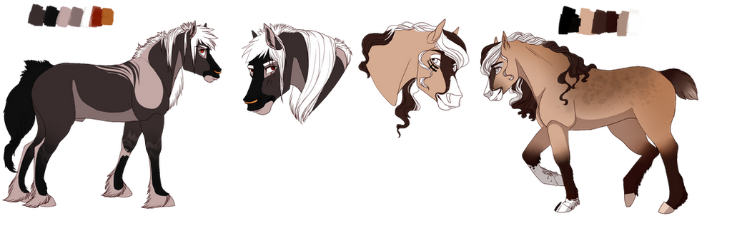 Horse Character Adopts (CLOSED) by PicturedHorseisle