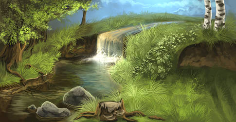 Shallow Creek by Llassie