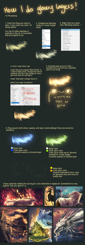 Tutorial: Glowing layers (photoshop)