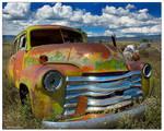 Green and Rust Wagon