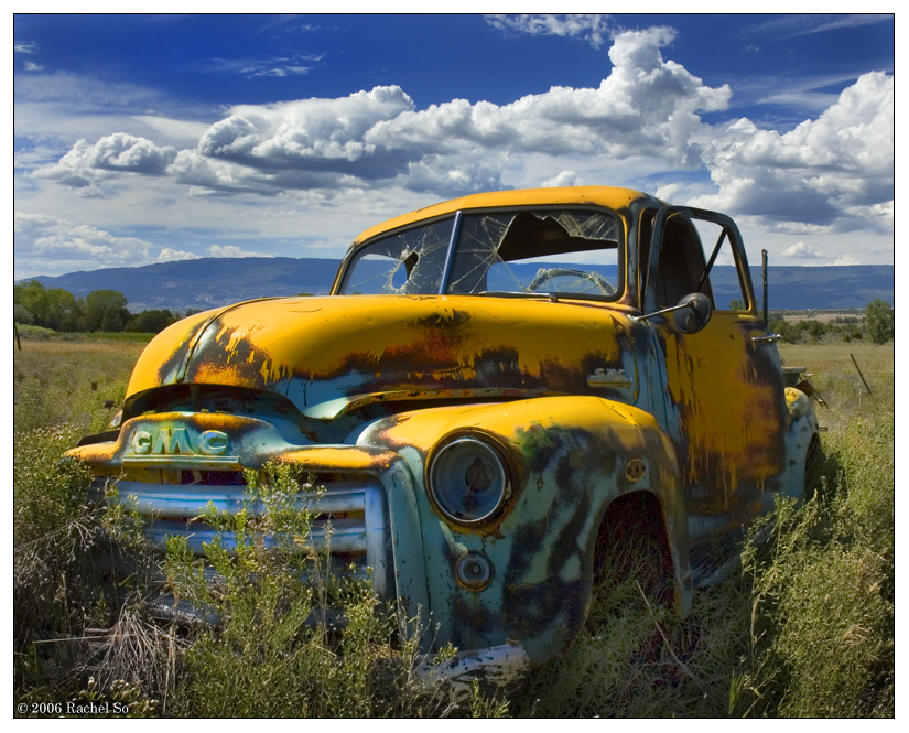 Yellow and Rust Truck