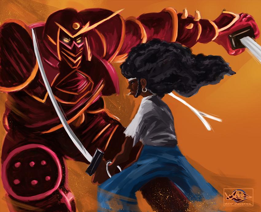 Afro Samurai vs. The Iron Shogun by Moebocop
