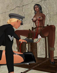 Nazi interrogation of a Nubian Amazon by andbond