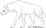 F2U Hyena Lineart