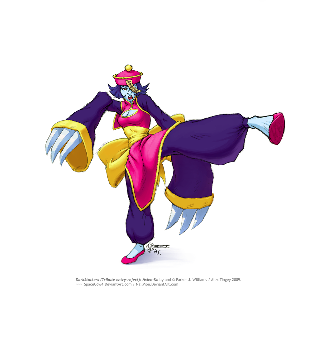DarkStalkers: Hsien-Ko by spacecow4