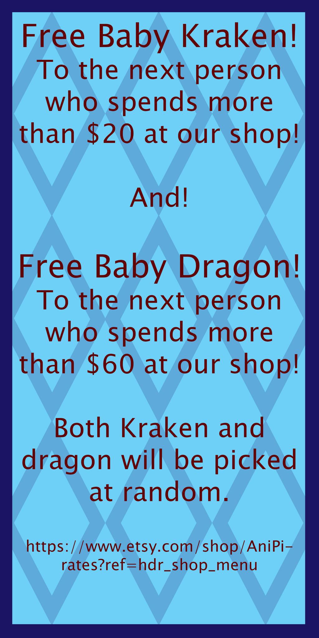 Free Kraken Dragon by AniPirates