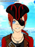 Tickle RP OC: Captain 'Laughing Jackie' Redfeather
