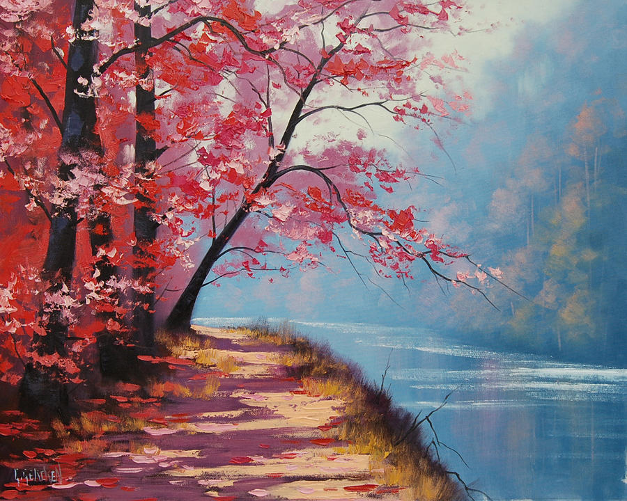 Lakeside Path By Artsaus