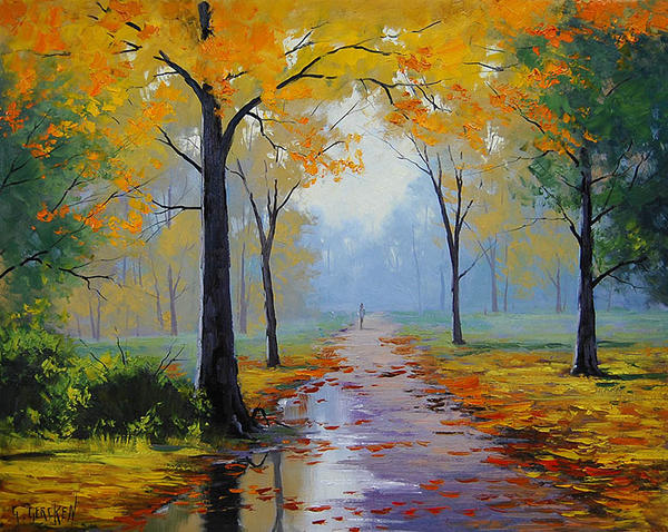 Wet Autumn Morning by artsaus