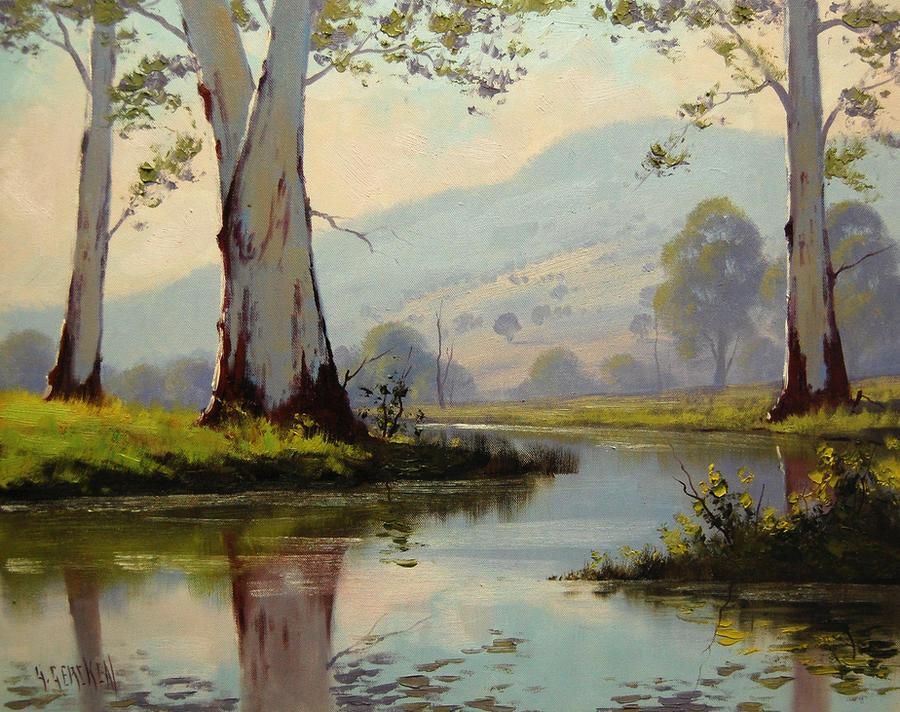 Gum trees australia by artsaus on deviantart for Australian mural artists