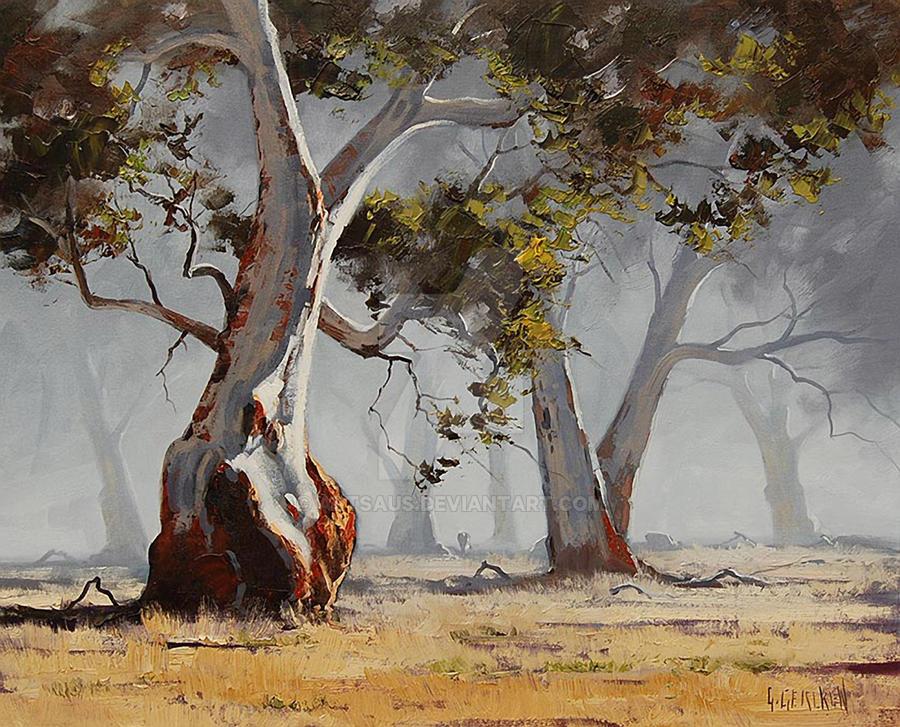 Eucalyptus trees australia by artsaus on deviantart for Australian mural artists