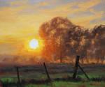 Farm Sunrise Painting