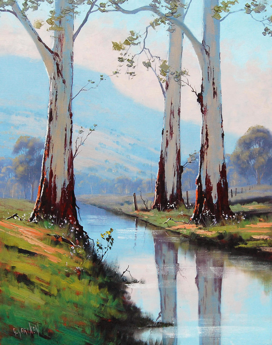 River Gums Graham Gercken By Artsaus