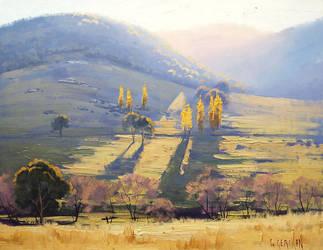 Impressionist Landscape painting by artsaus