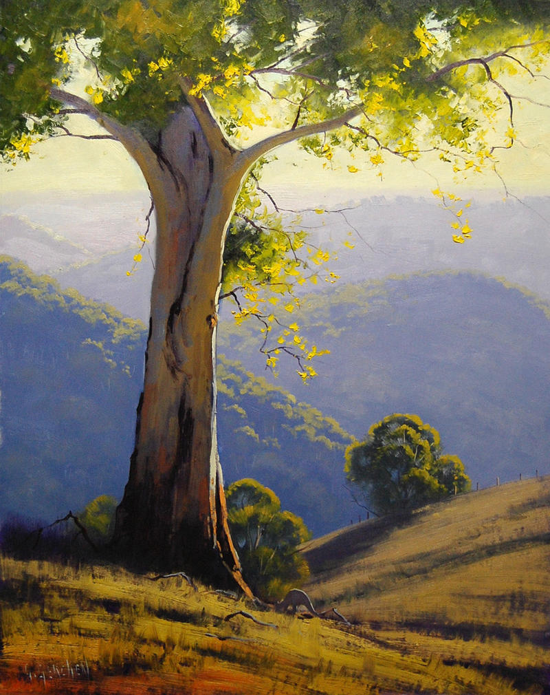 Hillside Gum by artsaus