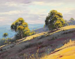 Hillside Landscape by artsaus