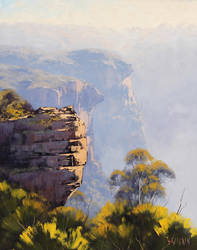 Katoomba Cliffs by artsaus