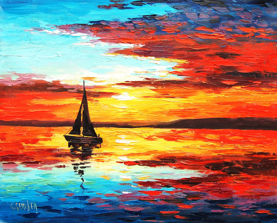 Ocean Sunset by artsaus on DeviantArt