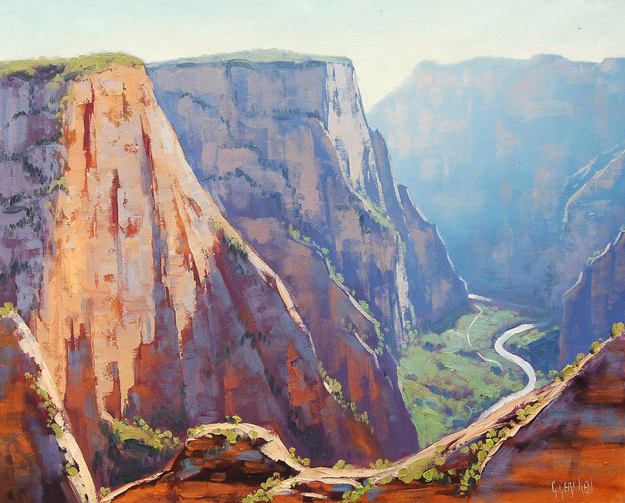 Zion Canyon Cliffs by artsaus