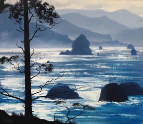 Oregon Seascape by artsaus