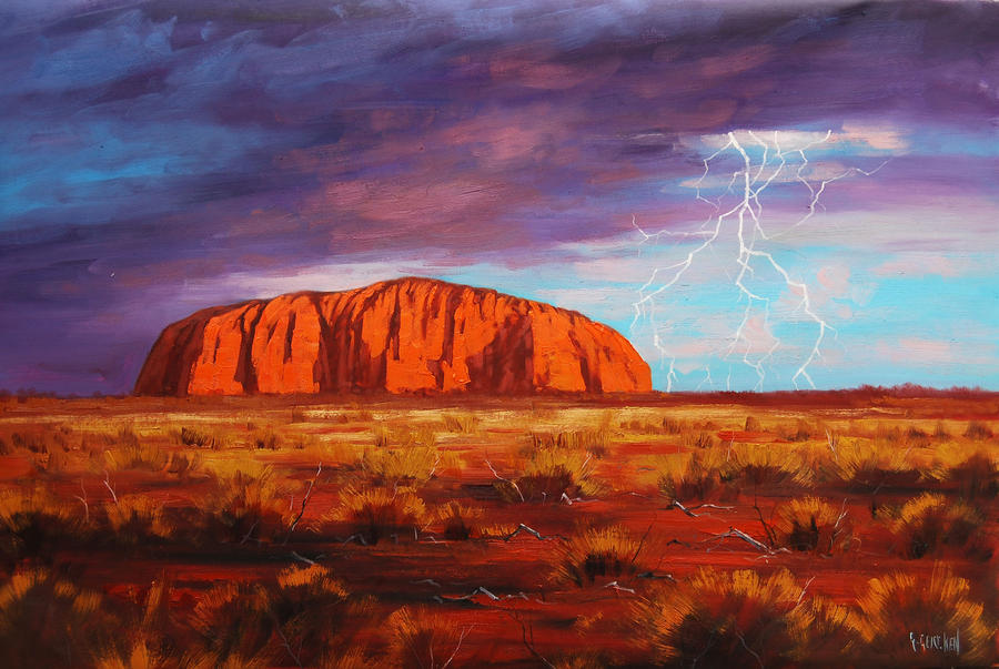 Uluru Outback Australia Painting