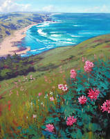 coastal wildflowers by artsaus
