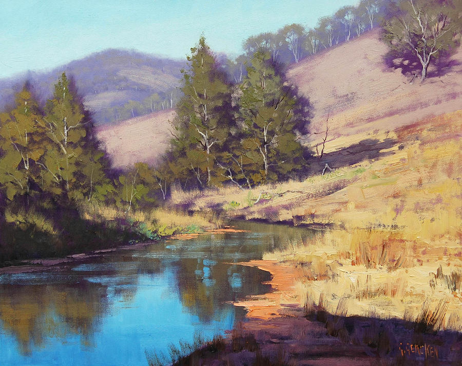 Australian summer landscape by artsaus on deviantart for Australian mural artists