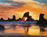 Oregon Sunset Beach