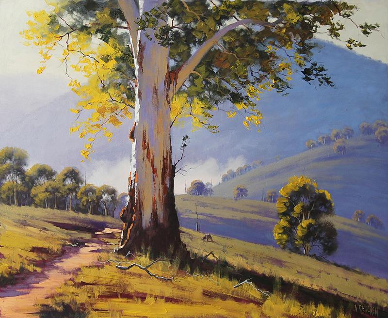 Australian gum tree bathurst by artsaus on deviantart for Garden design under gum trees