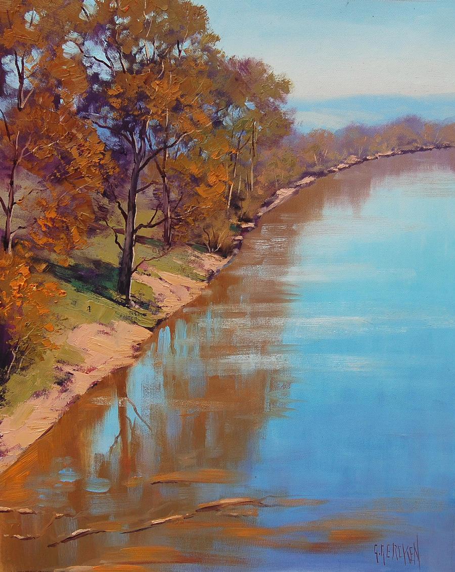 Tumut River Australia by artsaus