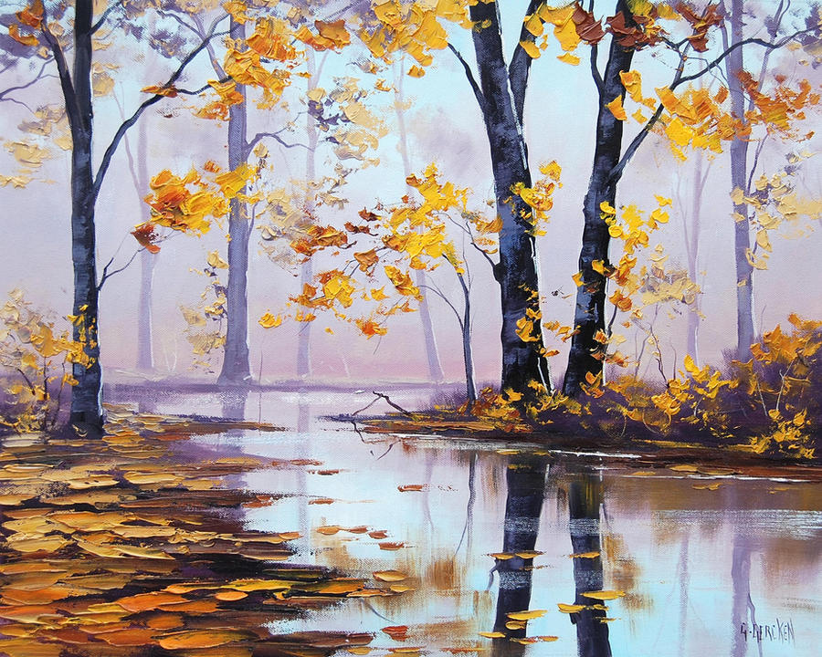 Autumn River by artsaus