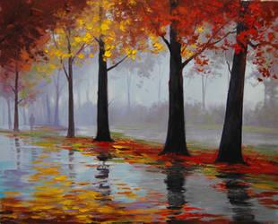 Autumn Rain by artsaus