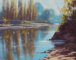 Morning Tumut River by artsaus