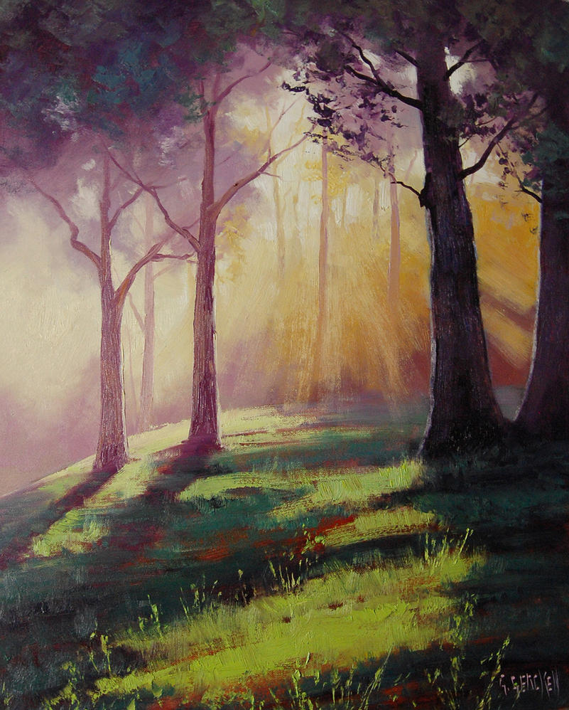 Forest Sunrays by artsaus