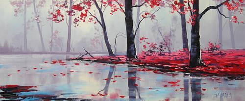 Misty River by artsaus