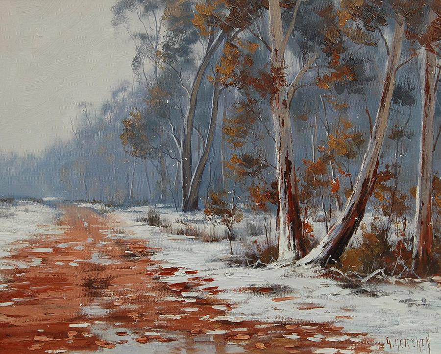 Australian winter gums by artsaus on deviantart for Australian mural artists