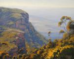Hazy Cliffs Blue Mountains