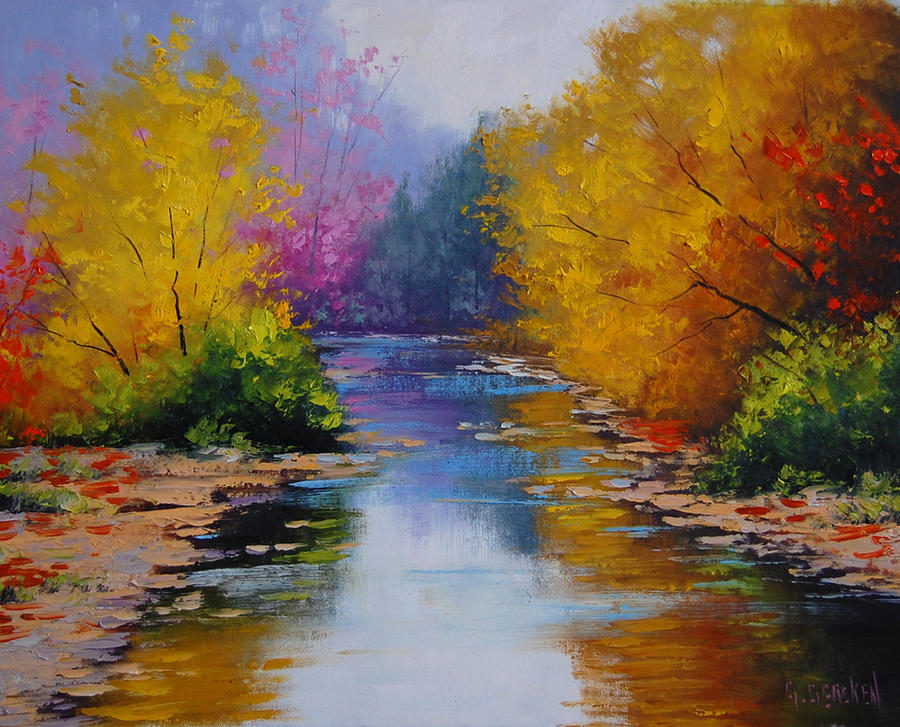 Oil Painting Fall Colors