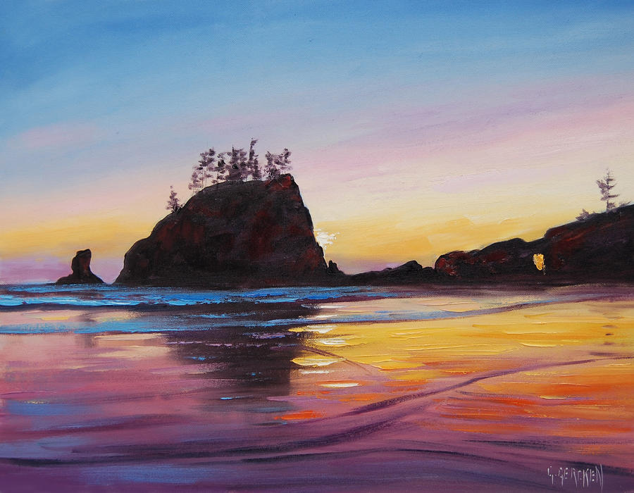 Washington Beach Sunrise by artsaus
