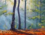 Forest Sunlight Painting
